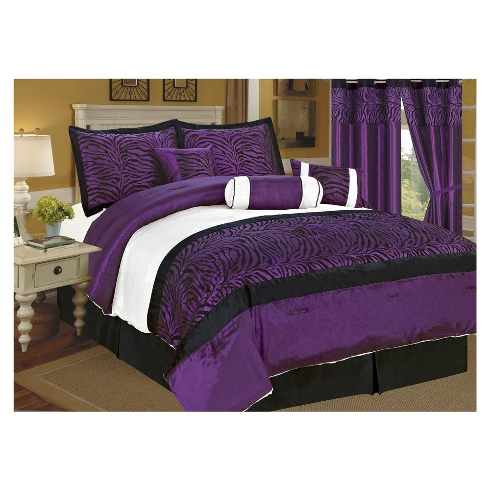 Purple bedrooms black white purple bedroom purple king comforter