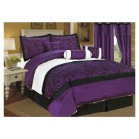 purple bedrooms | black-white-purple-bedroom-purple-king ...
