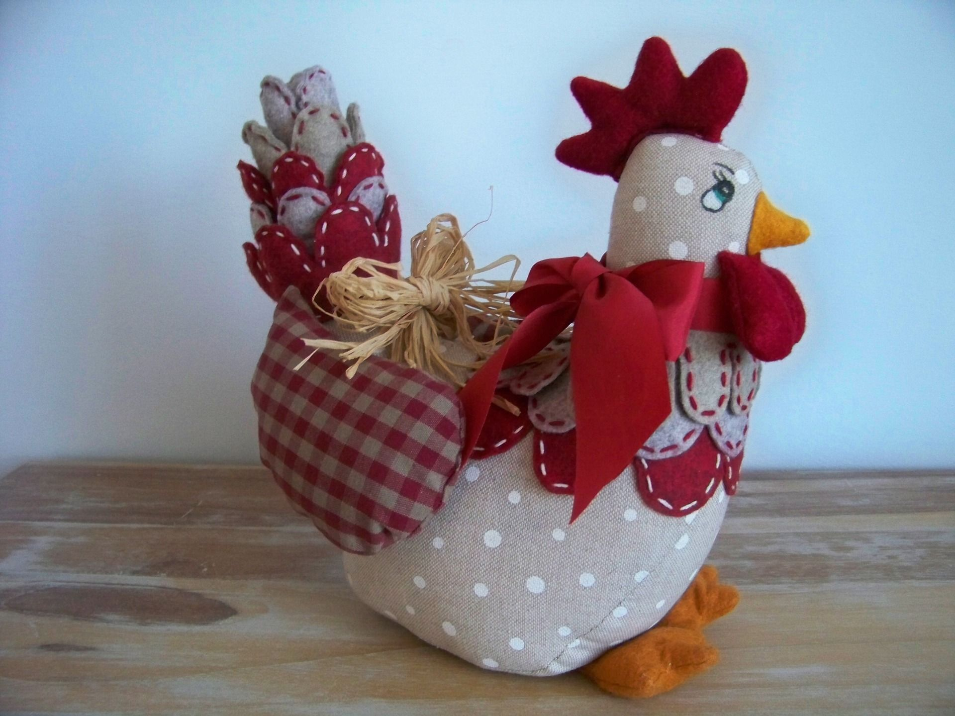 Poules Decoration Fr Poule Cale Porte Ou Fenetre Ou Decoration En Lin Et