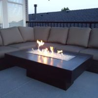 Rectangular Fire Pit coffee table