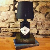 Hendricks Gin Bottle Lamp & Free Shade by ...