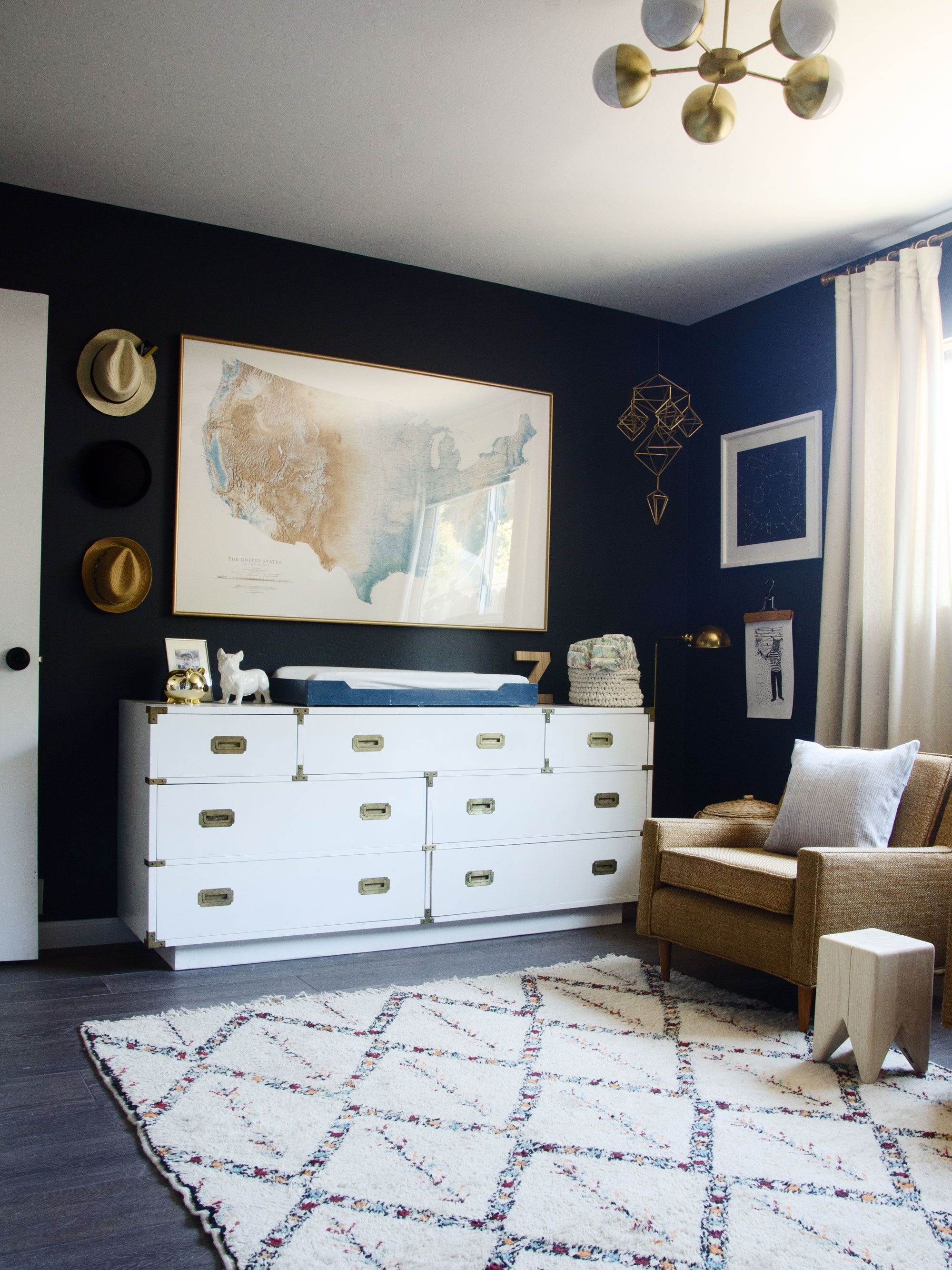 Baby Blue Bedroom Ideas Modern Neutral Navy Boy Nursery Brittanymakes Kids