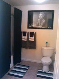 Our Marilyn Monroe bathroom. Long curtains