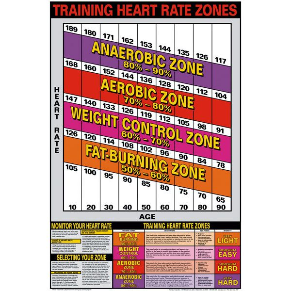 Training Heart Rate Zones Chart ~ Charts\/Posters motivation - rate chart