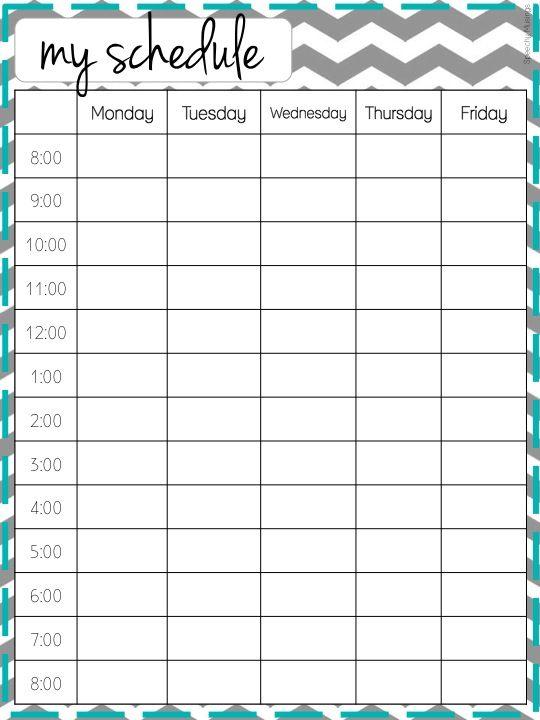 work schedules templates free