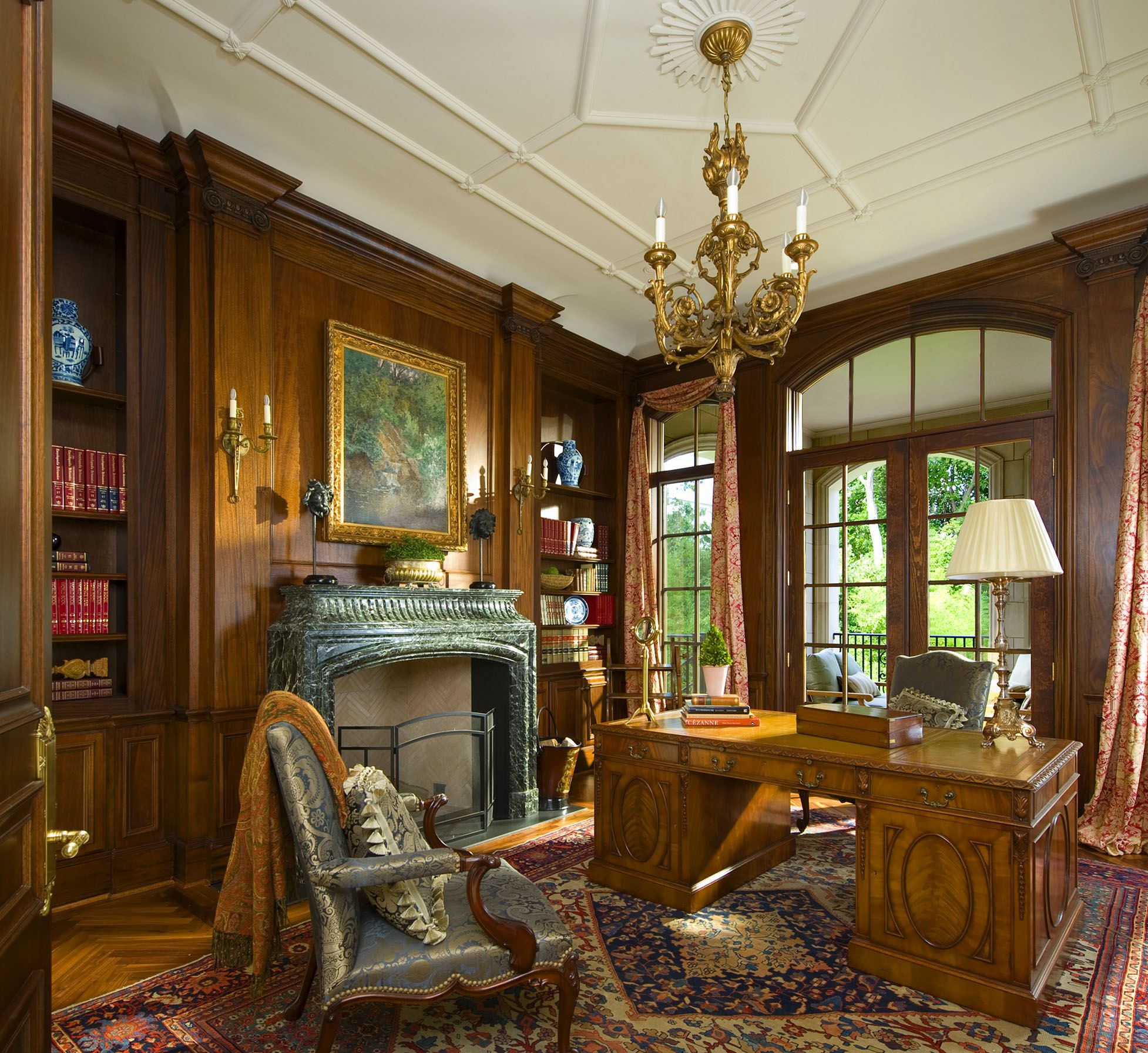Classic Home Offices Office With Wood Paneling Detail In A French Classical