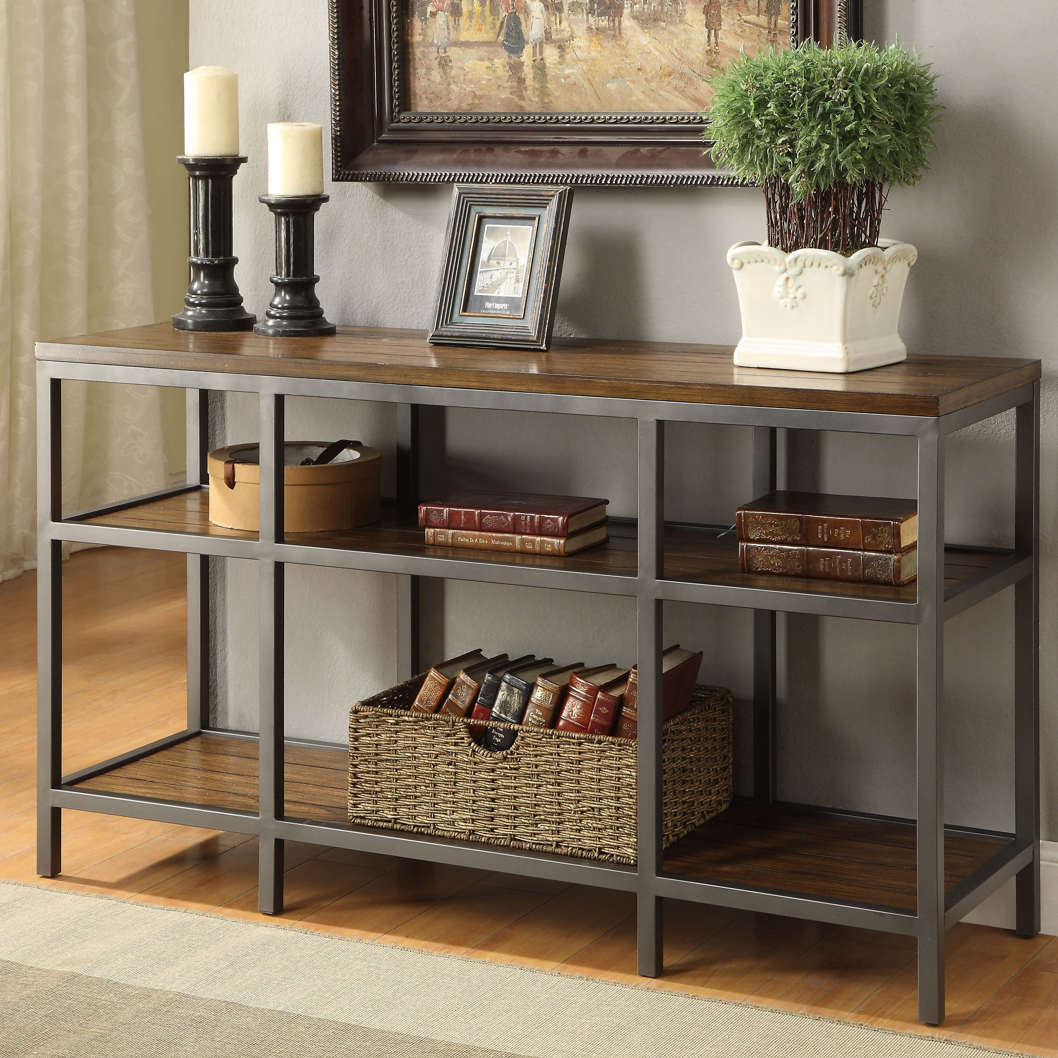 Small Industrial Side Table Charmingly Designed With An Industrial Style In Mind This