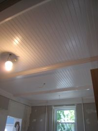 basement ceiling idea. remove drop ceiling, paint beams