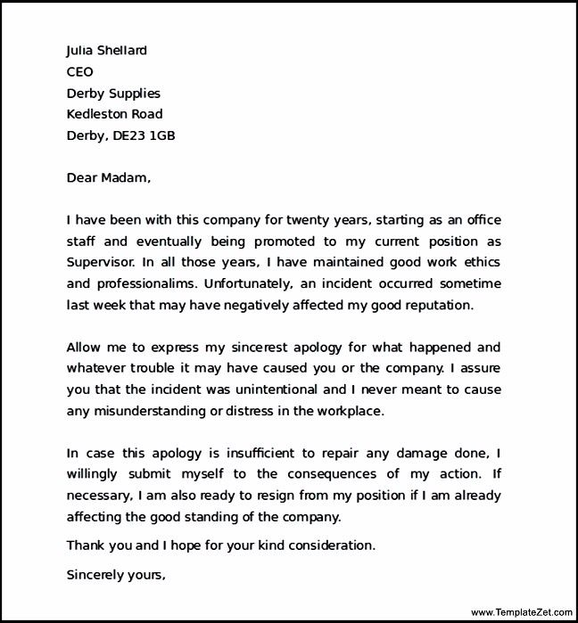 apology letter boss for mistake templatezet business sample Home - letter of apology sample