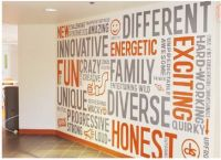 values wall graphic - Google  | Future supermarket ...
