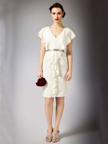 summer wedding dresses modern summer knee length wedding dress with waterfall neckline and back
