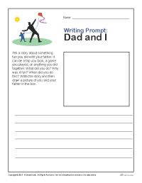 Father's Day Writing Prompt: Dad and Me | Worksheets ...