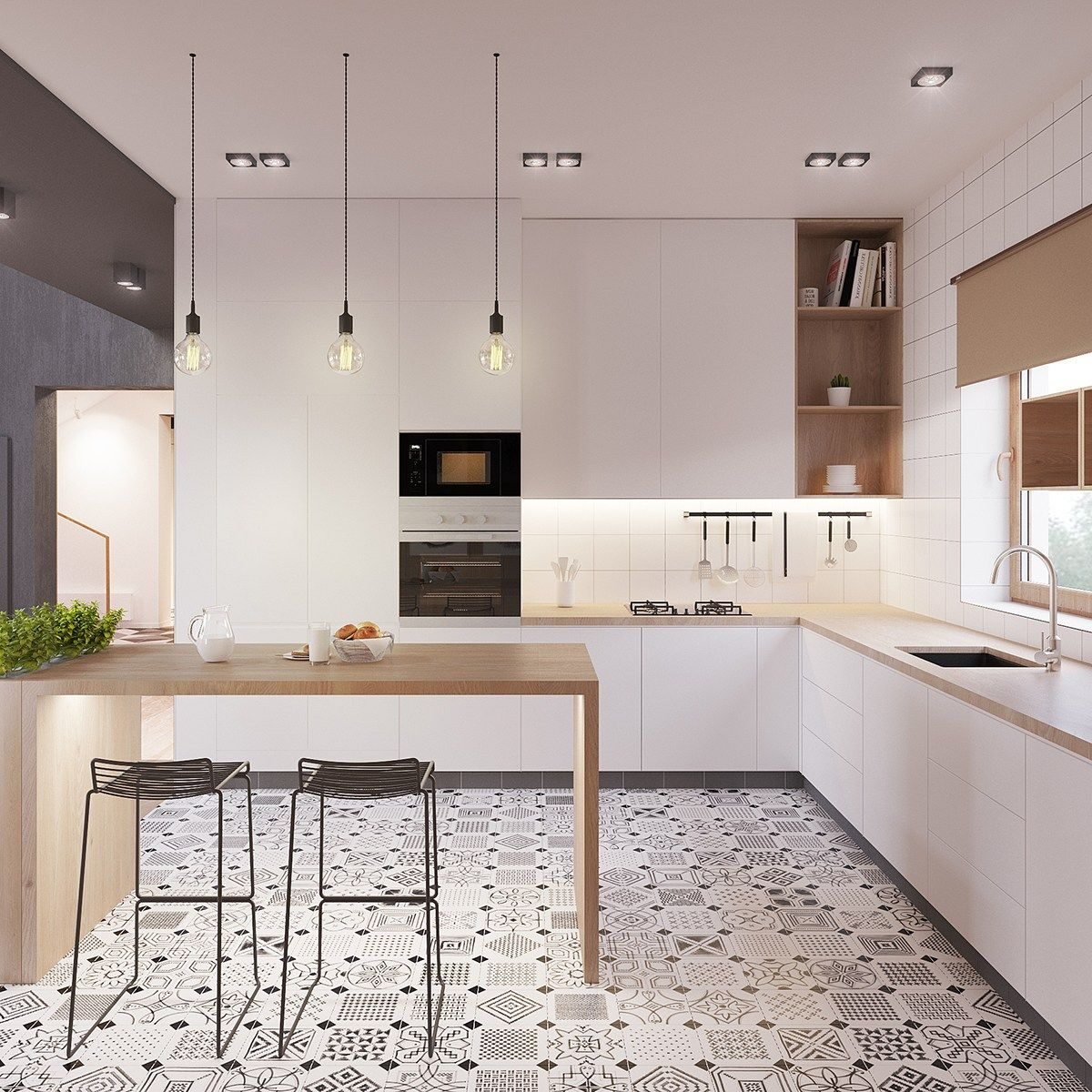 Scandinavian Floor Tiles Eclectic Scandinavian Kitchen Floor Tiles Jpg 1 2001 200