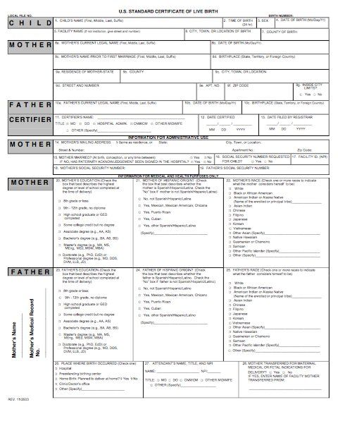 15 Birth Certificate Templates (Word \ PDF) - Template Lab - sample birth certificate template