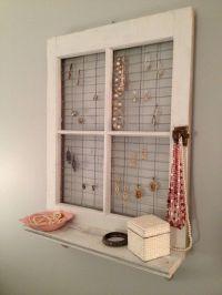primitive window frame wall decor | Vintage Window Frame ...