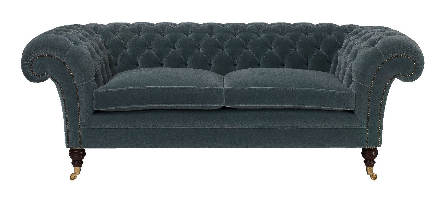 Chesterfield Sofa And Chair Chilham Chesterfield Sofa In Customers Own Material Chesterfield