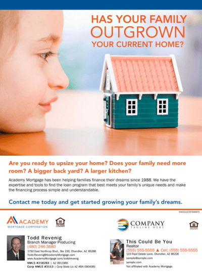 Has Your Family Outgrown Your Current Home? Todd Revenig, Branch Manager and Loan Officer at ...