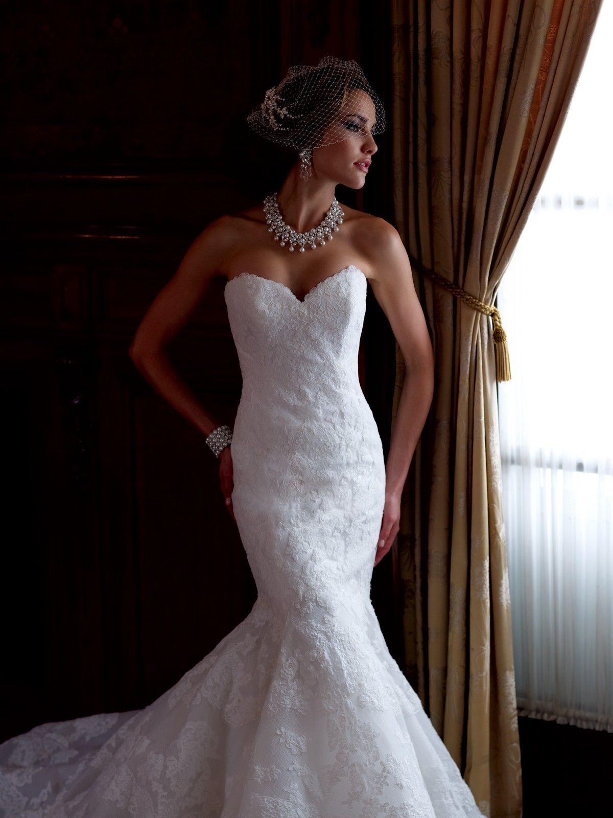 mermaid dress wedding Sexy Sweetheart Chapel Train Lace Trumpet Mermaid Wedding Dress With Appliques Wmc
