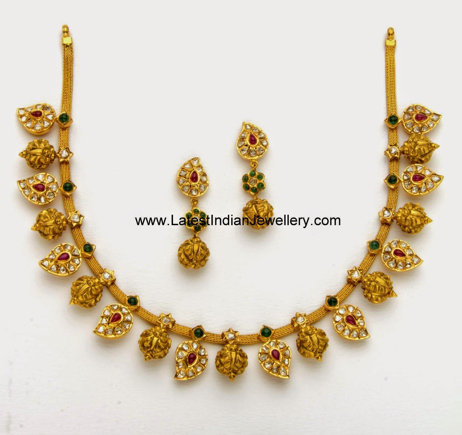 Mango Design Nakshi Balls Mango Design Gold Necklace Projects To Try
