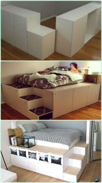 DIY Space Saving Bed Frame Design Free Plans Instructions ...