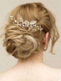 "Gold Rhinestone & Crystal Hair Vine Comb ~ ""Elke"" in Gold ..."
