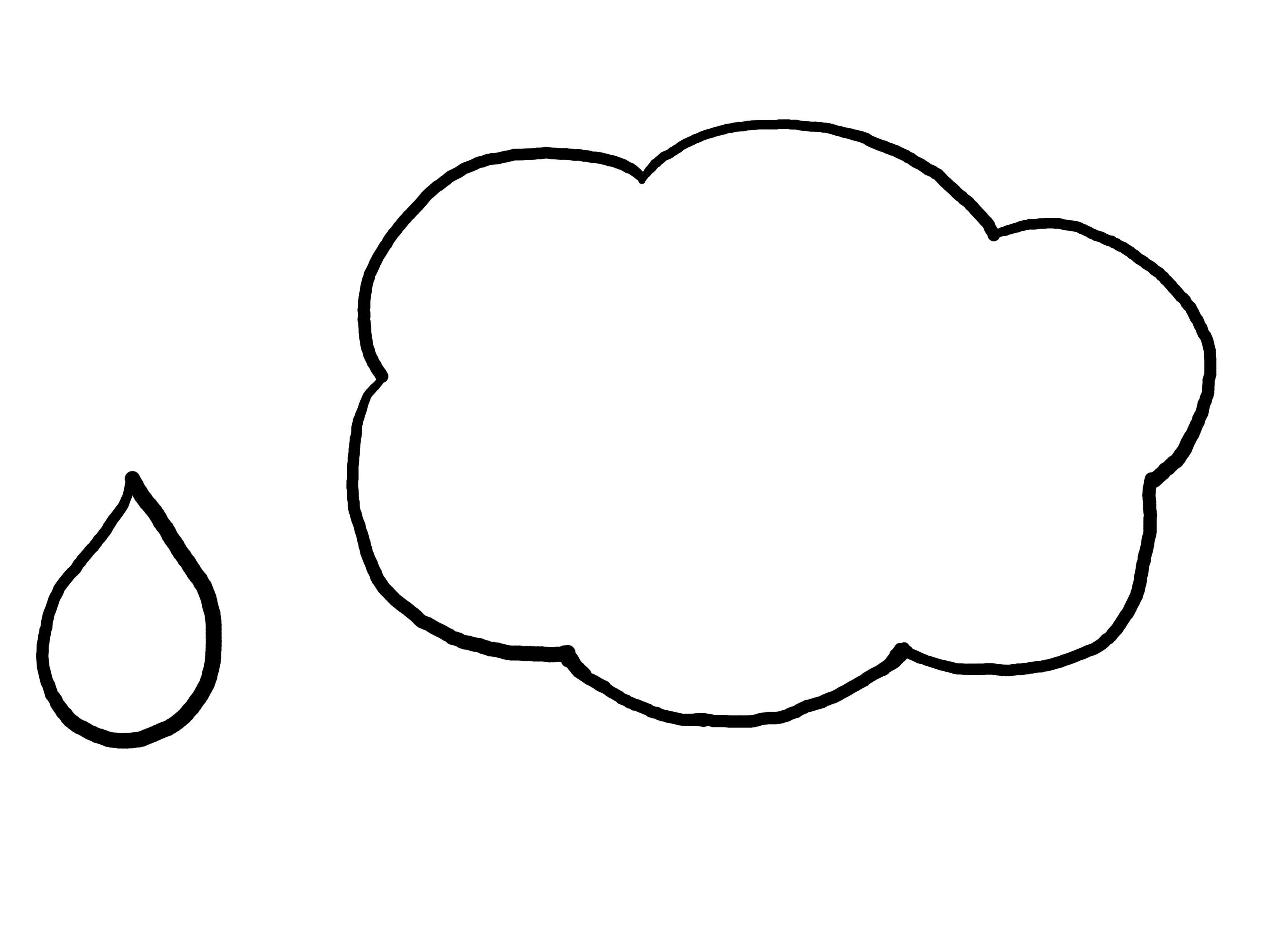 Cloud Raindrop Template Paper Crafts Pinterest