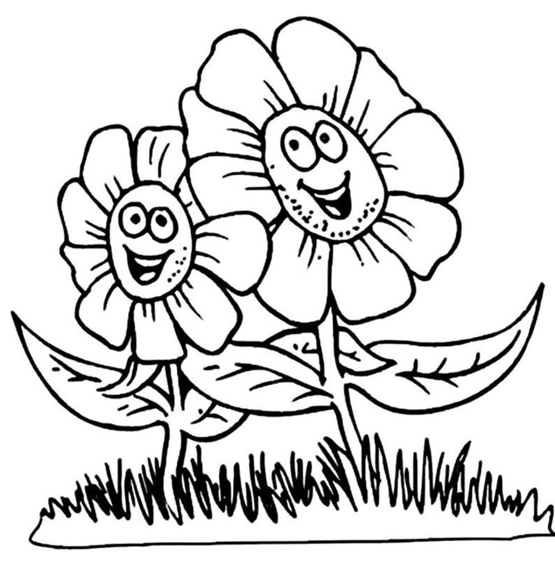 Coloring pages flowers for kids kidsfreecoloring net free download kids coloring printable