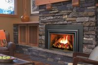 fireplace inserts wood burning with blower contemporary ...