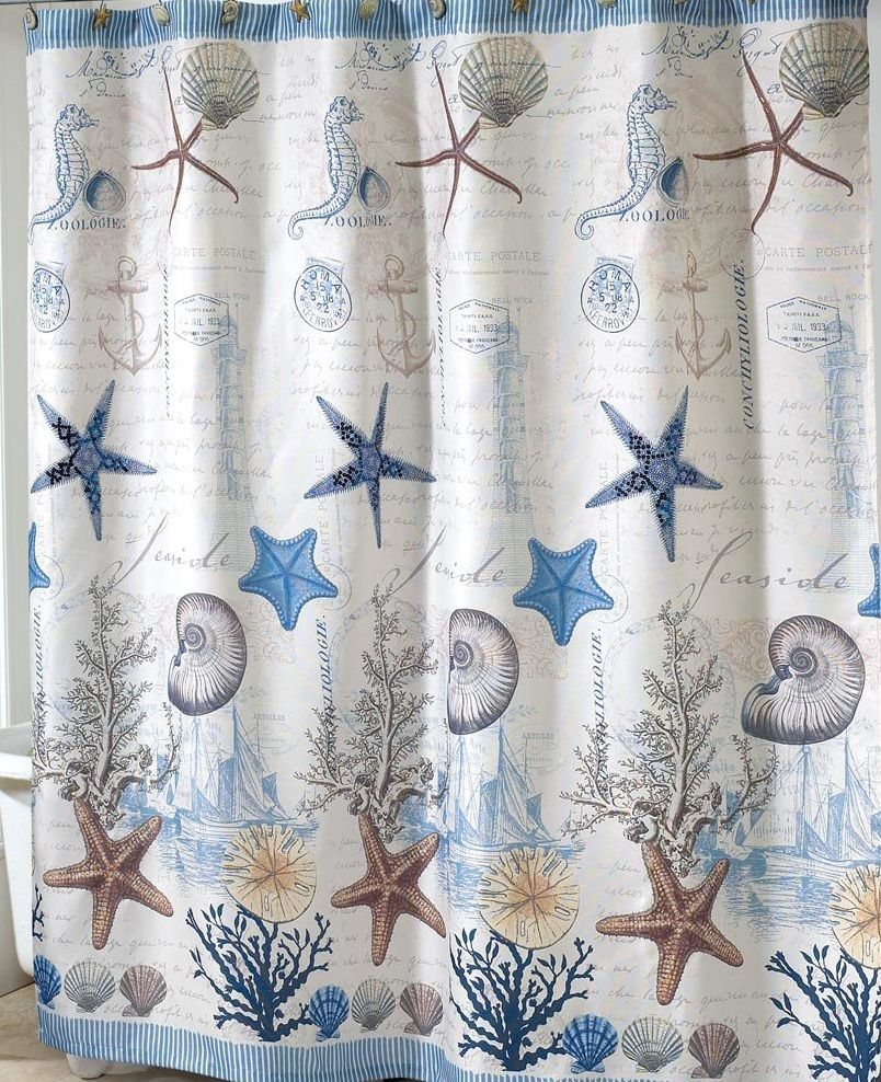 An antigua shower curtain is perfect for your beach house or nautical decor description from