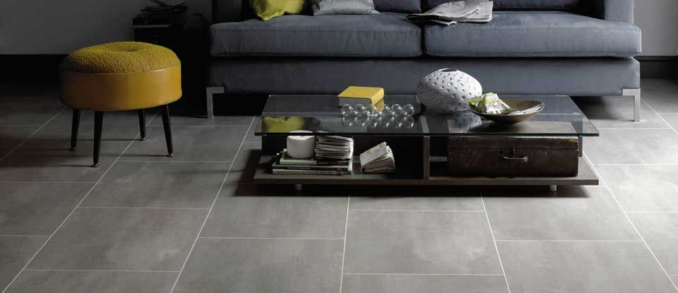 SP213 Urbus Grey Stone - Karndean Designflooring #Lime #Yellow - tile living room floors