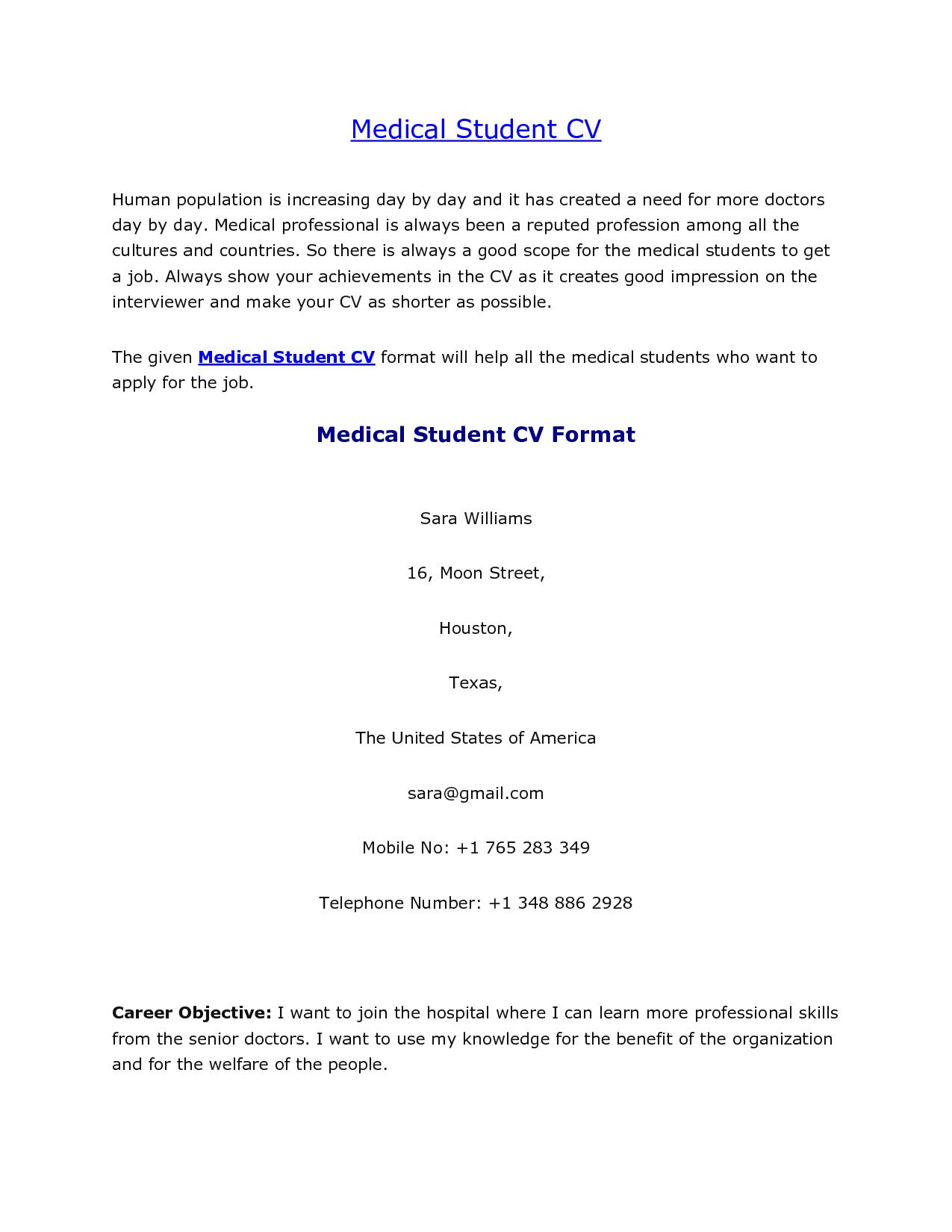 How to write an undergraduate cv