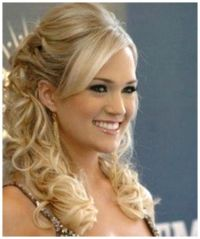 half up half down wedding hairstyles with tiara and veil ...