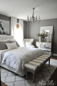 How to Go Glamorous with Gray in Your Guest Bedroom ...