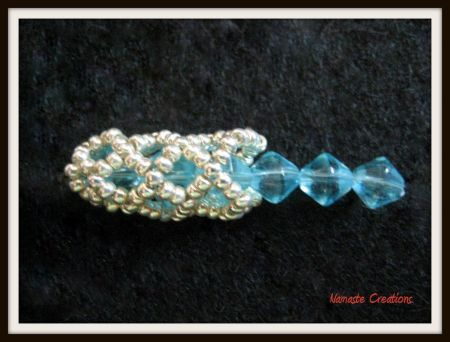 Tubular Netting Beaded Bead