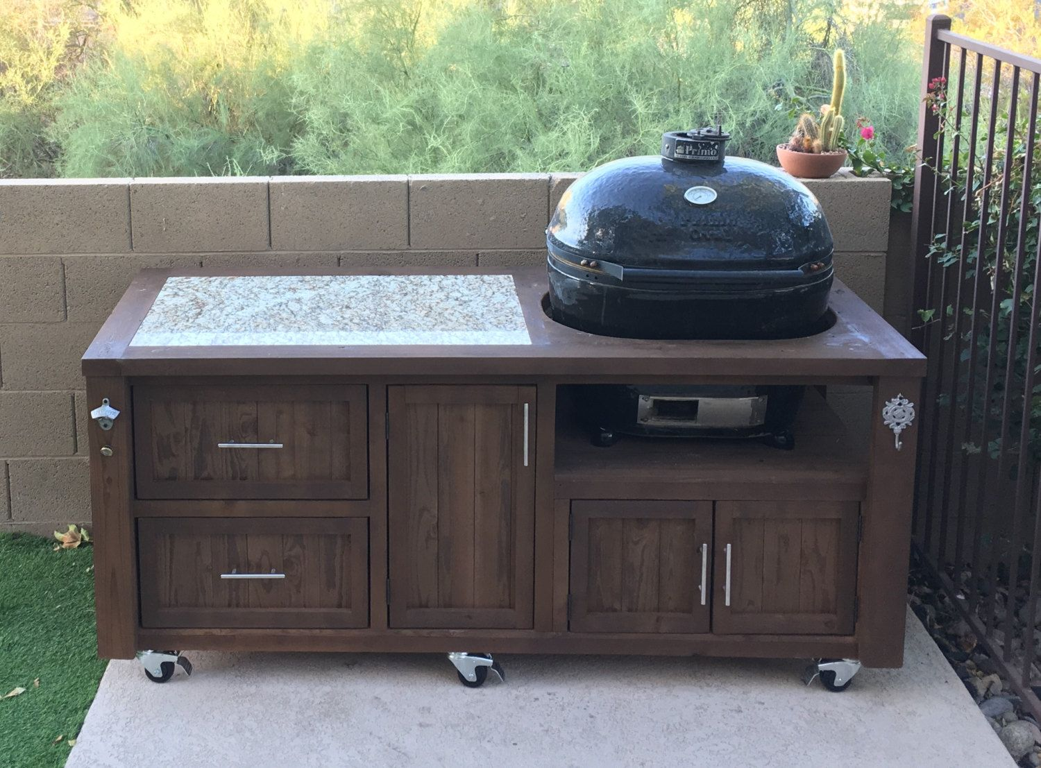 Outdoor Küche Weber Grill Primo Grill Cabinet Outdoor Kitchen Rolling Grill Cart