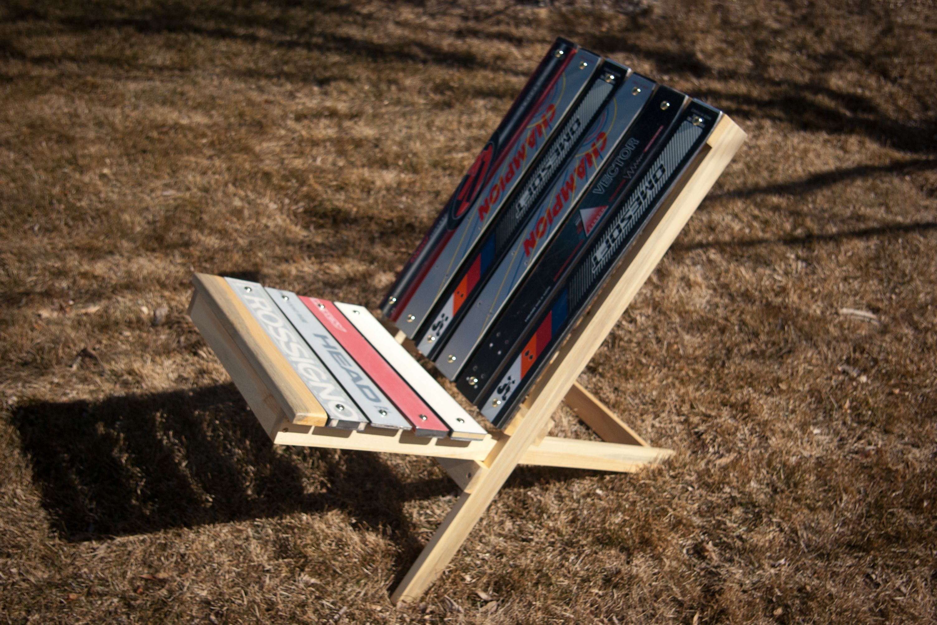 Collapsible Chair Collapsible Chair From Skis Ski Woodcraft Pinterest