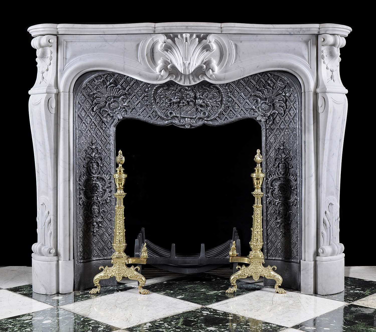 Fireplace Mantel White Antique White Marble Louis Xv Fireplace Mantel Heritage