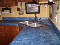 Modern Kitchen Interior Design With Blue Countertop ...
