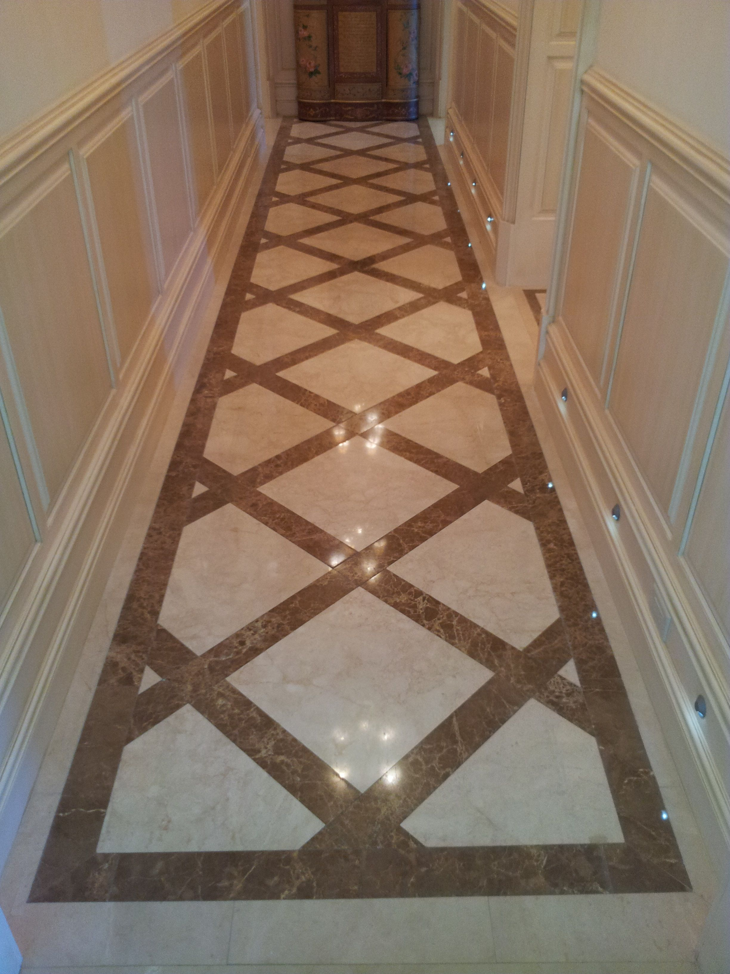 Floor Marbles Designs Crema Marfil And Emperador Light Marble Floors Design By