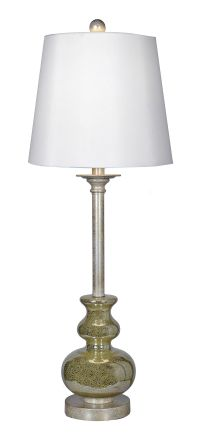Hess Gold Mercury Glass Buffet Lamp | Mercury glass ...