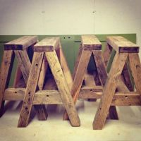 reclaimed saw horses for table legs | DIY | Pinterest ...