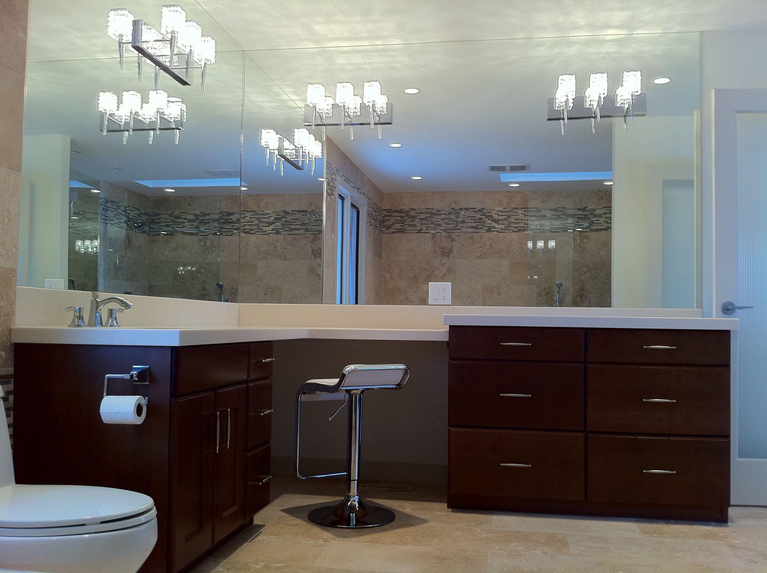 Makeup vanity bathroom renovation