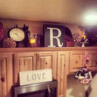 Above Cabinet Kitchen Decor | Crafty Mally | Decorating ...