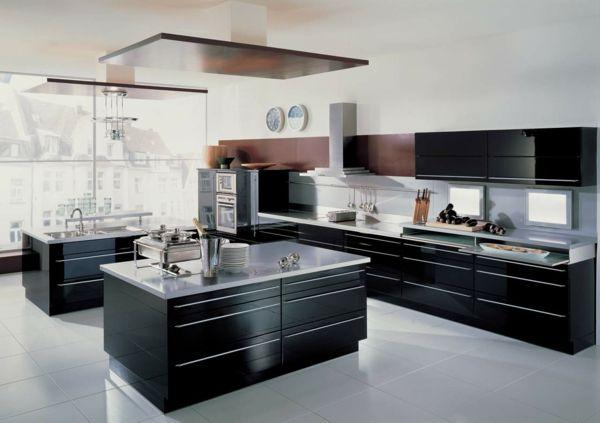 küche schwarze einrichtung weißer boden Einrichten und Wohnen - schwarze kuche tipps bilder interieur