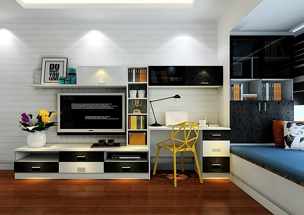 TV-cabinet-and-computer-desk-combination-for-bedroomjpg (1022×725 - computer desk in living room