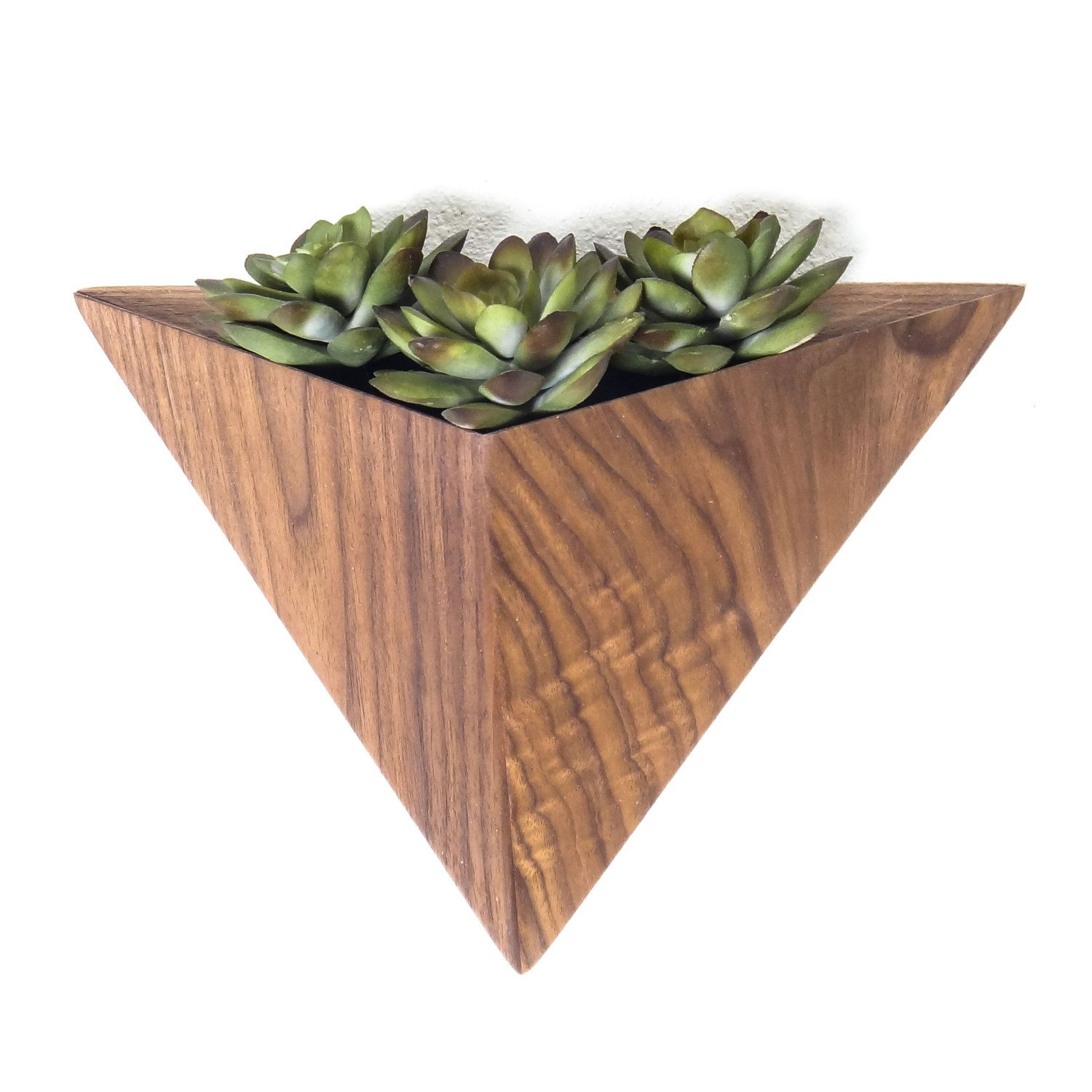 Wall Mounted Pots Geometric Hanging Planter Box Triangular Indoor Planter