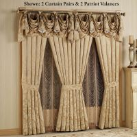 gold elegant curtains