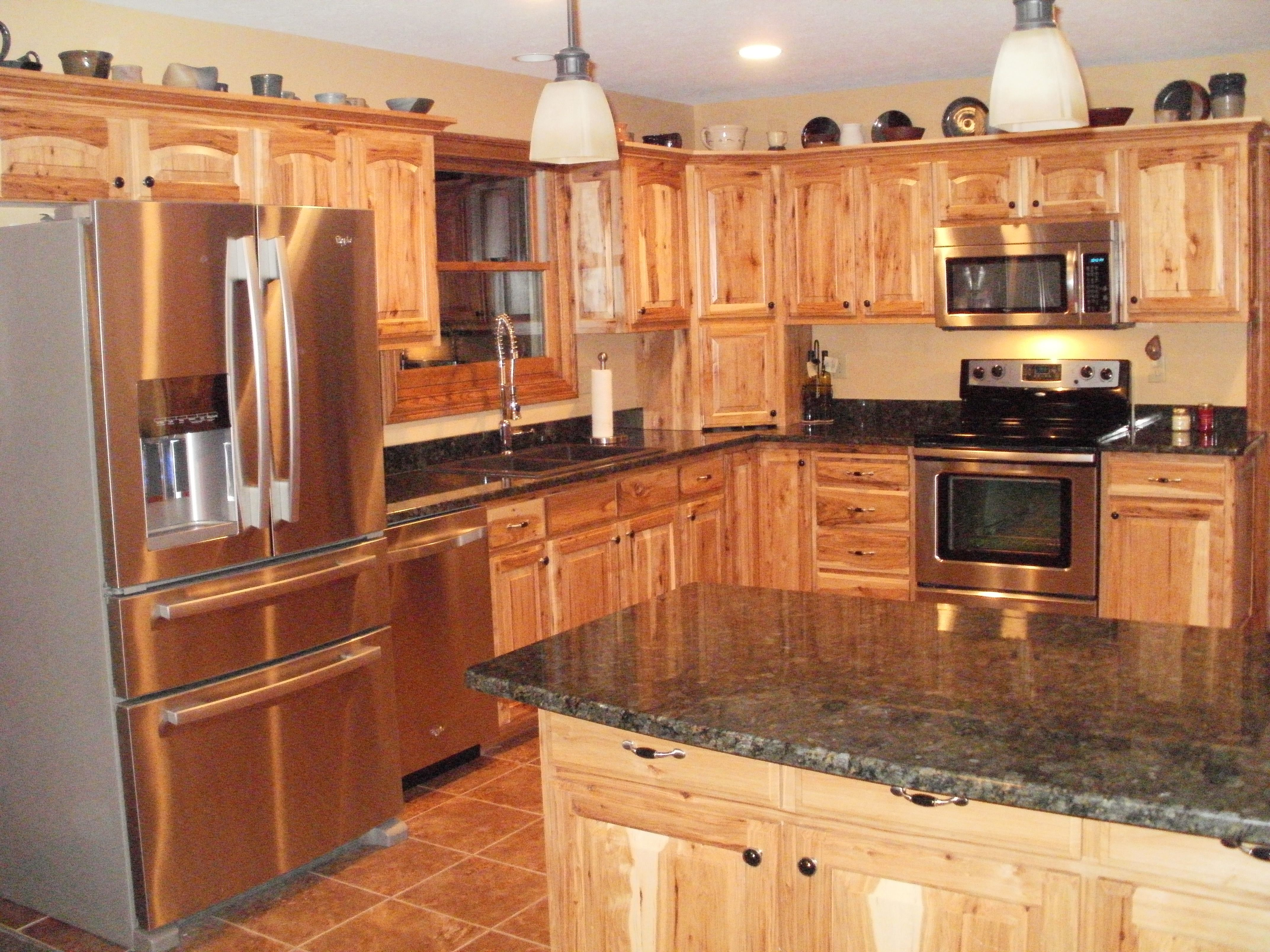 17 best ideas about hickory kitchen cabinets on