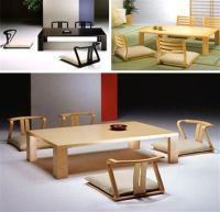 Japanese floor seating table and dining set with cushions ...