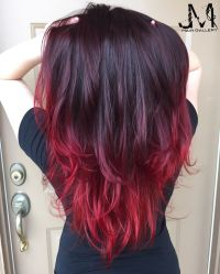 Hair color red hair purple hair ombr | JM hair gallery ...